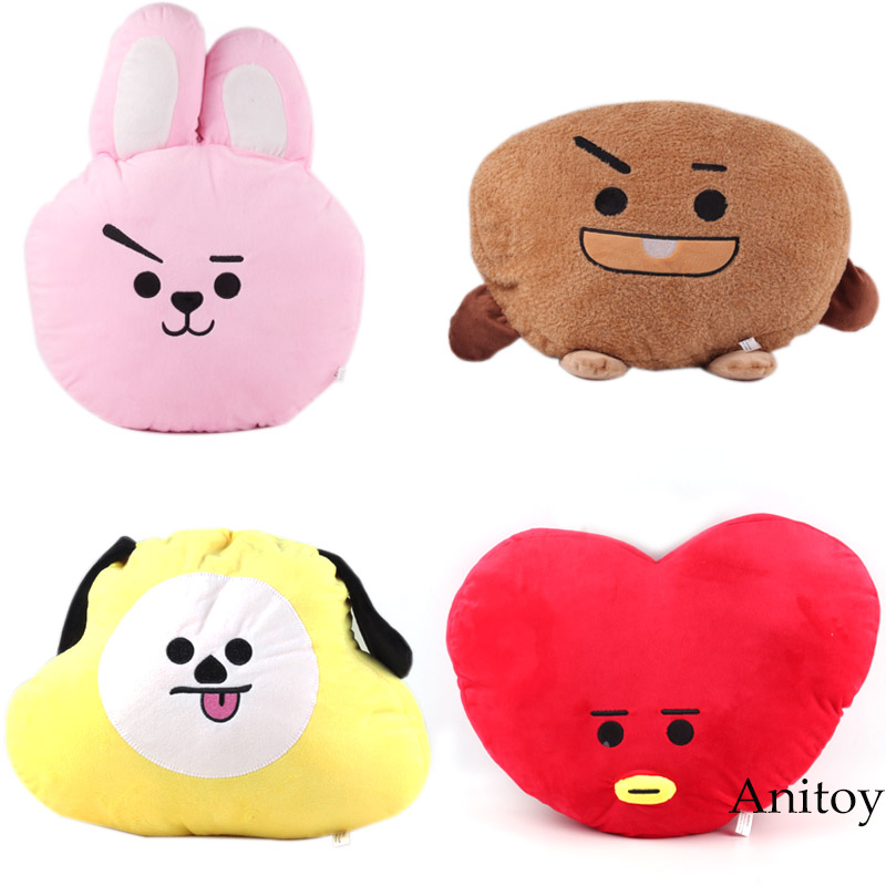 Figurines & Miniatures Home & Garden Hearty Cute Hot Funny Bts Bt21 Tata Shooky Rj Koya Chimmy Cooky Mang Plush Toy Pillow Doll Cushion New Small Gift For Kids