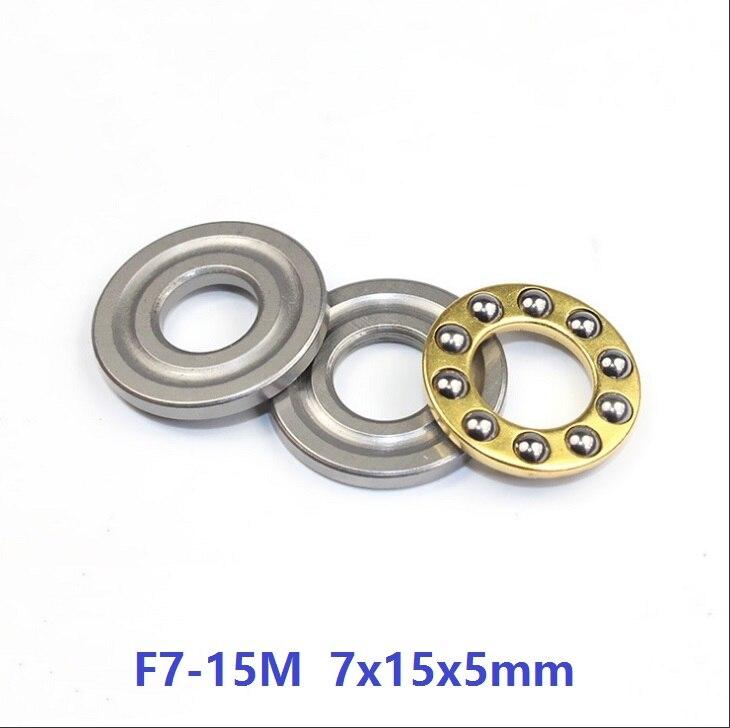 100pcs lot F7 15M Axial Ball Thrust Bearing 7x15x5 mm miniature bearing Plane thrust ball bearing