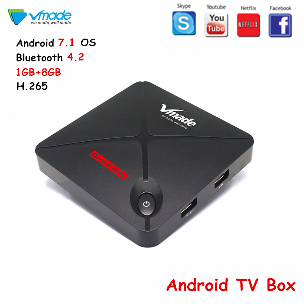 Vmade V9 PRO TV Box Android 7.1 Octa Core Amlogic S912 Bluetooth 4.2 H.265 MPEG-4 2GB 16GB prise en charge YouTube Smart Android TV box