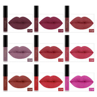 24 Colors Matte Liquid Lipstick Waterproof Long Lasting Lip Gloss Lint Makeup Cosmetics 3