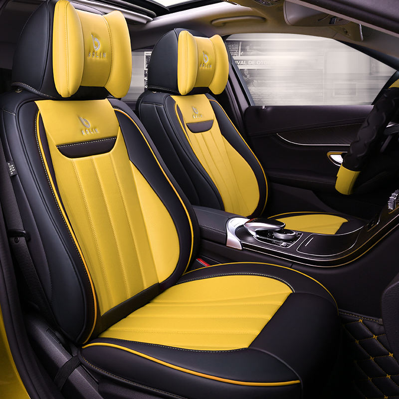 6D car seat cover 5Seats( Front+Rear) car styling For Audi A1 A3 A4 B8 B7 B6 B5 A6 C6 C7 A8 A8L Q3 Q5 Q7 High fiber Leather,Car