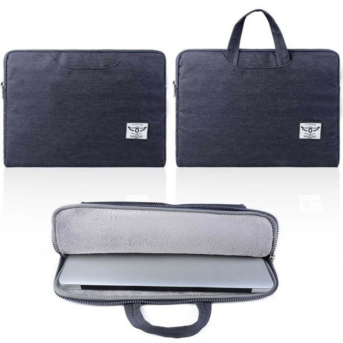 new business style jean Laptop Sleeve Case for macbook air 11 12 13 denim men laptop bag for 11inch 12inch 13inch macbook