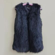 471d0a052c345 Vrouwen herfst winter bontjas wit zwart bont vest Europen stijl mouwloze  hoge kwaliteit jas uitloper casual