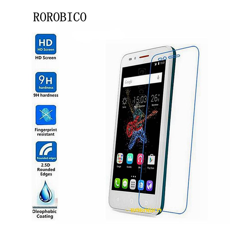 ROROBICO Tempered Glass For Alcatel One Touch Go Play <font><b>7048X</b></font> Screen Protector 9H Hardness Full Transparent Film image