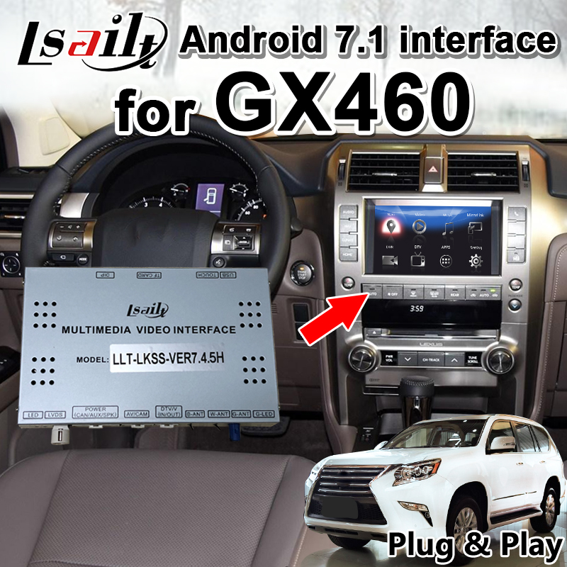 Android 7.1 Multimedia Video Interface For Lexus GX460  2014-19 GPS Navigator With 32G ROM 3GRAM By Lsailt