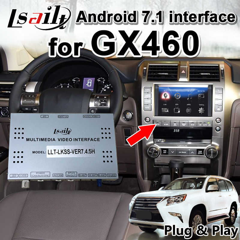 Android 7.1 Multimedia Video Interface Navigation box for Lexus GX460  2014-19 with 32G ROM 3GRAM by Lsailt