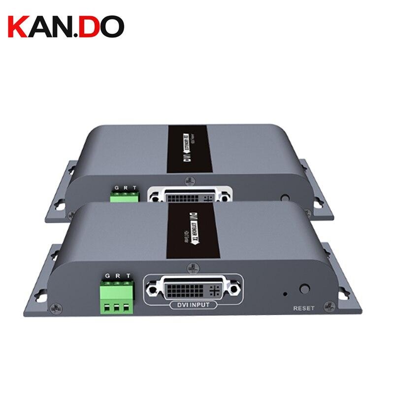 LKV383dvi Up To 394ft 120m Dvi HDbitT Extender With Audio Over Single CAT5/5e/6 1080P Over IP CAT6 Extender Video Transmission