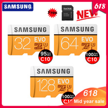 SAMSUNG 32GB Micro SD EVO 64GB Memory Card Class 10 128GB Max 100MB/s SDHC SDXC U3 UHS-I TF Card 4K HD for Smartphone Tablet PC memory card toshiba m302 micro sd card 128gb class 10 sdxc uhs 1 u3 90mb s real capacity for android phone