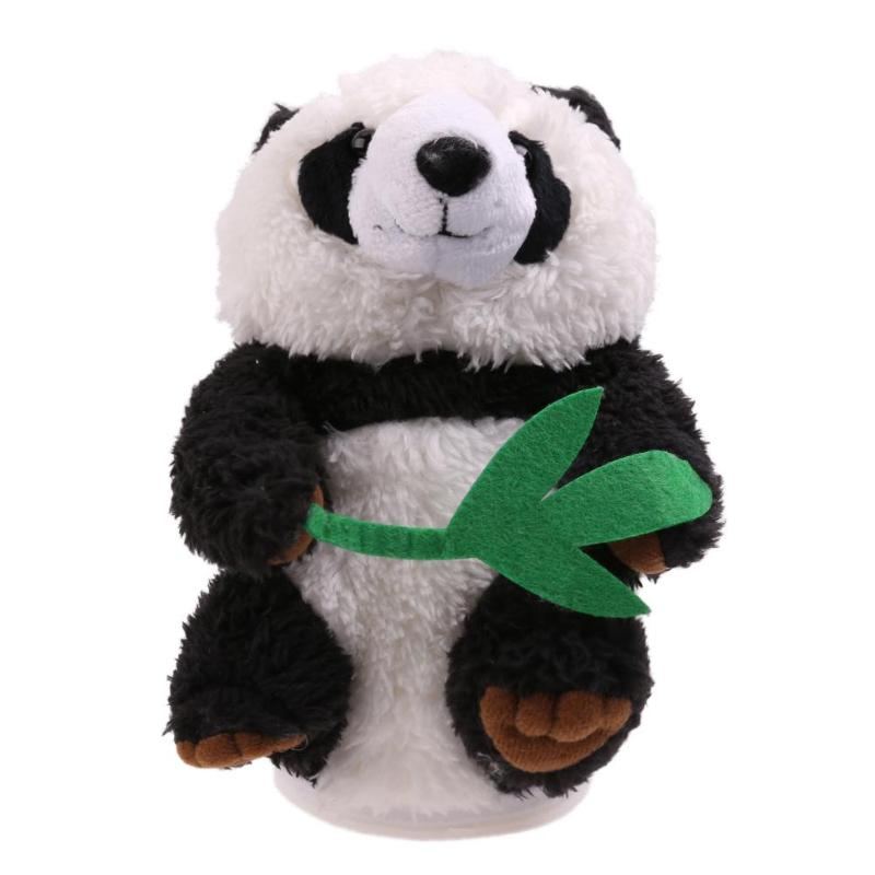 Panda Sound Doll Toy Recording Repeat Talking Electronic Plush Toy Kid Gift Children Educational Playing Panda  Animal Toys