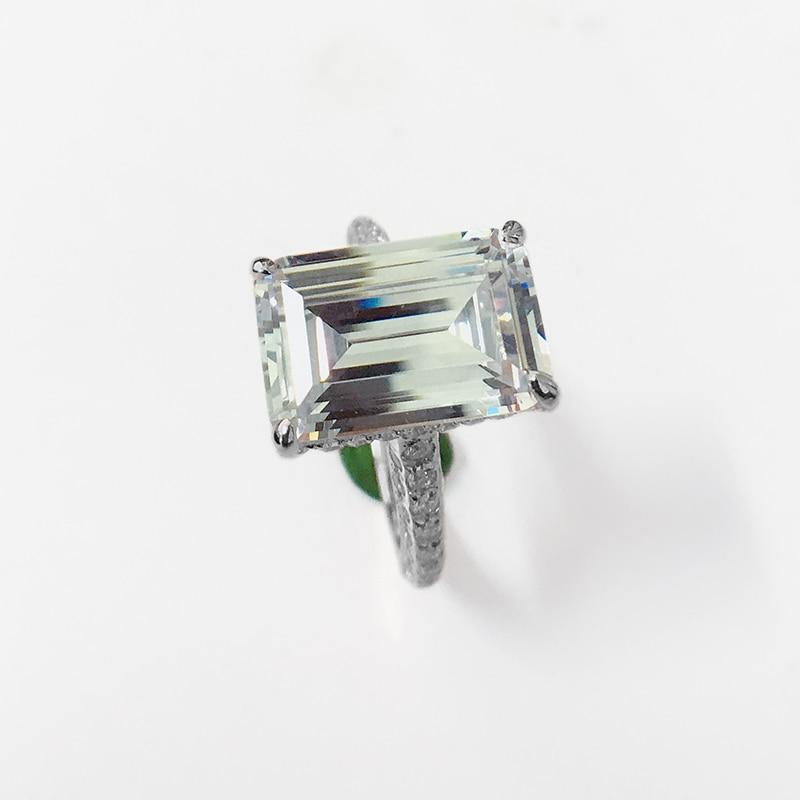 LESF luxe 6 Ct 925 bagues en argent Sterling pour femmes or Rose bague de fiançailles mariage SONA diamant femmes bijoux - 3