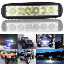 ship from RU 18W 12V LED Work Light Bar Spotlight Flood Lamp Driving Fog Offroad LED Work Car Light DXY88