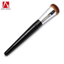 Professional Black Long Wood Handle Short Dense Synthetic Fiber 66 Big Water Drop Shape Pro Press Full Coverage Complexion Brush
