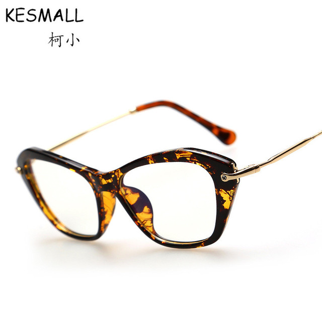 8614927b90 2018 Optical Glasses Frame Women Vintage Cat Eye Glasses Frames Leopard  Style Woman Fashion Eyeglasses Frame Oculos De Grau RB92
