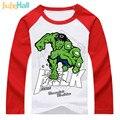 Hero jiuhehall 2-6 años de primavera chicos de manga larga camisetas de algodón puro niños raglán t-shirt de moda salvaje de los niños tapas de dcm022