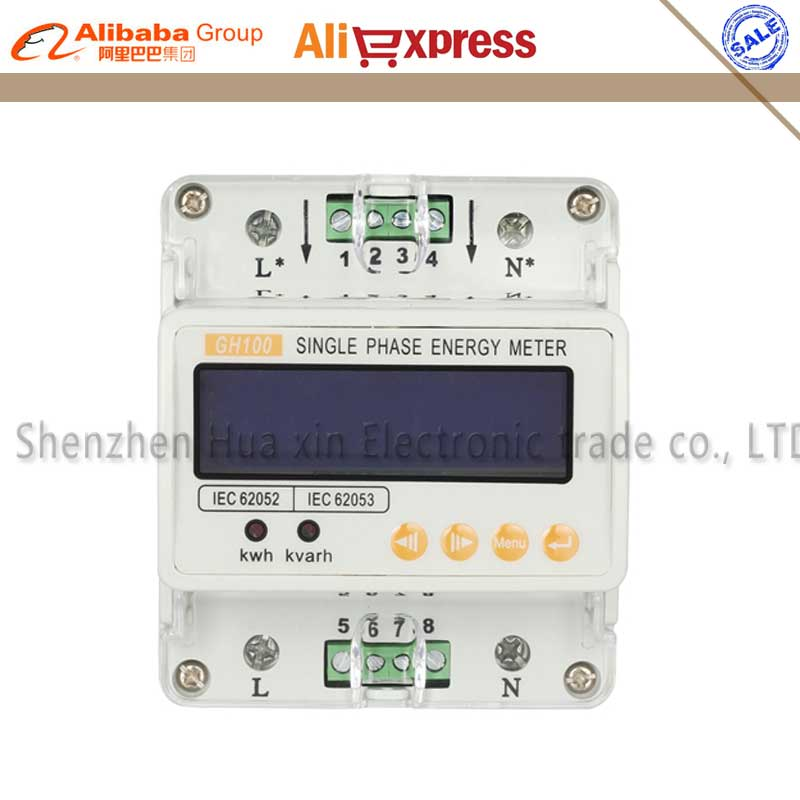 цены  Single-phase Guide Rail LED Digital Energy meter Electricity meter kwh Meter Digital power meter  10-40A 220V 50Hz