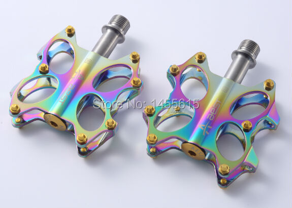 AEST light weight oil slick titanium bike pedal-in Bicycle