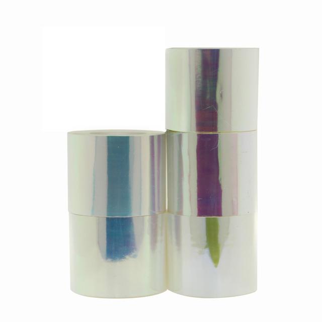 100 M * 4 CM/Rollo Grande Holográfica Cristales Rotos Nails Nail Art Láminas Envuelve las Etiquetas Engomadas Del Clavo/Nail Art 5 Colores Liberan El envío