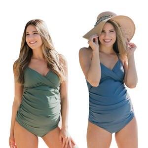 4d9d1210ce7 One Piece Maternity Swimwear Plus Size Swimsuit Large Size Pregnant Women