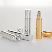 Wholesale 100 Pieces Lot 10ML Refillable Mini Cute UV Glass Perfume Bottle With Roll On Empty