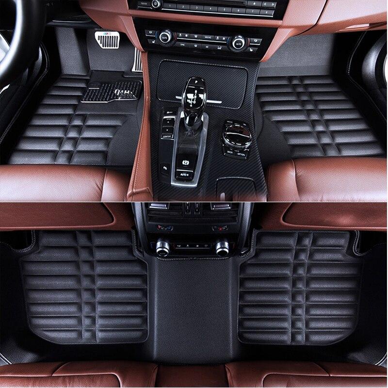 Piano auto stuoie di mat tappeto per Mercedes A W169 W176 B W245 W246 C W204 W205 E W212 W213 S w221 W222 GLA GLK X204 GLC