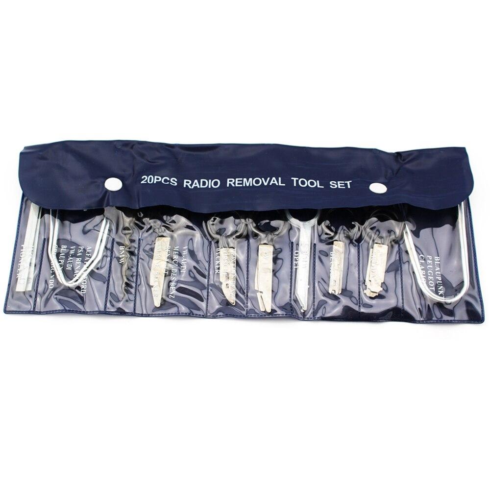 20pcs Stereo Radio Removal Tool Kit Key font b Repair b font Tool Set For Ford