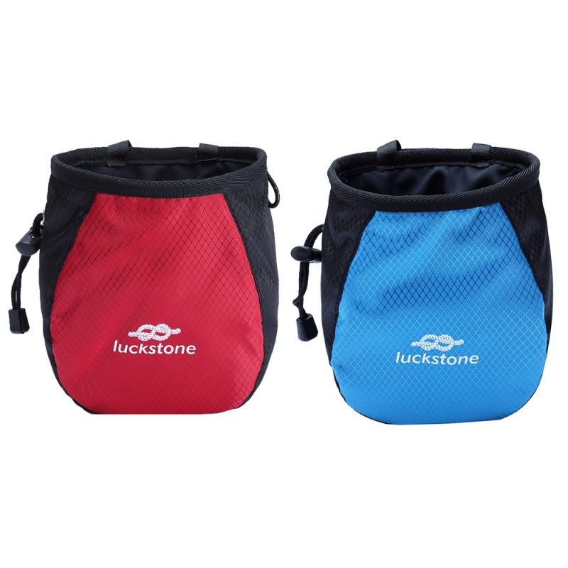 Chalk Bag Storage Pouch For Rock Climbing Gym With Drawstring And Adjustable Waist Belt New