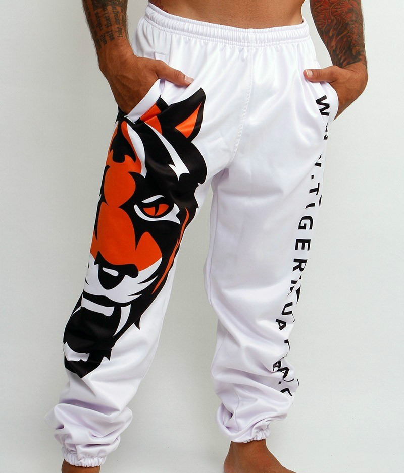 high quality Tigers Printing MMA Fight Pants Muay Thai Boxing Shorts Sweat Quick drying Fight Training Running Shorts-in Trainning & Exercise Pants from Sports & Entertainment    1