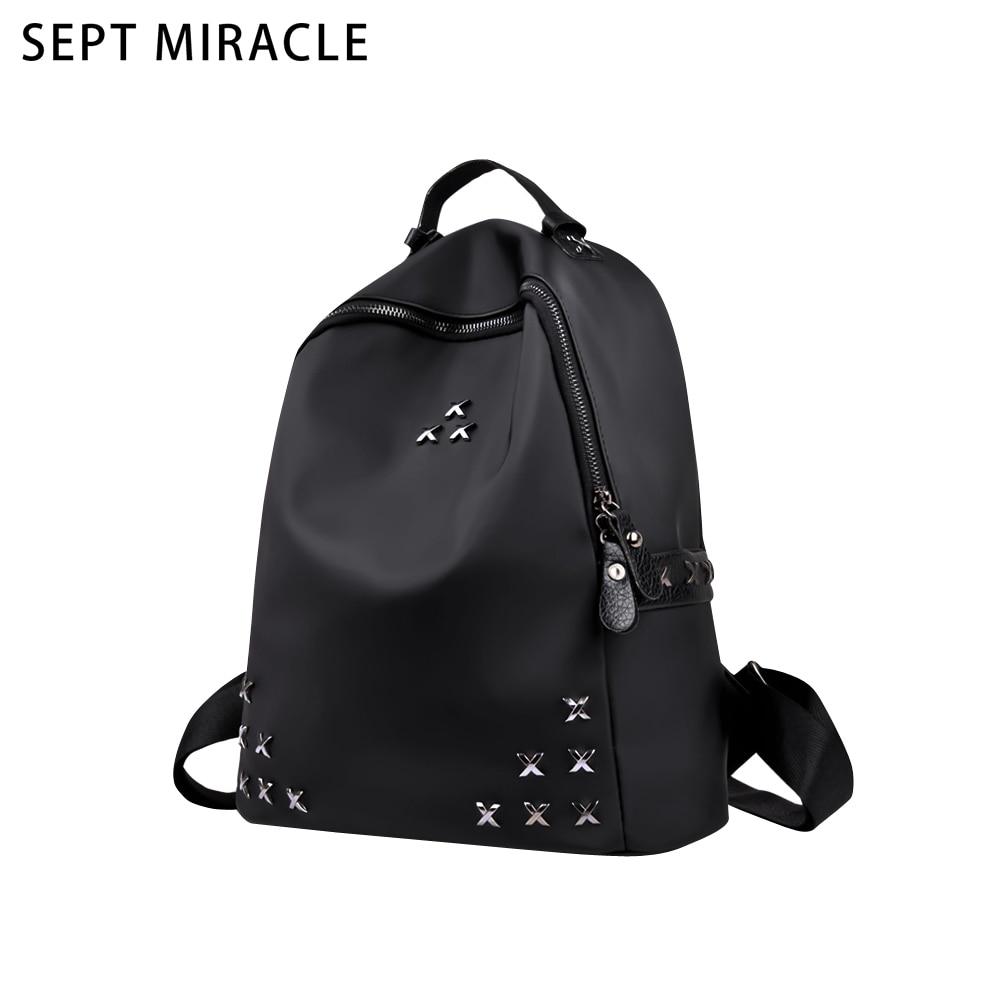 Fashion Backpacks Women Oxford Shoulder Bag Girls Rivet Backpack School Bag for Teenage Daily Travel Back