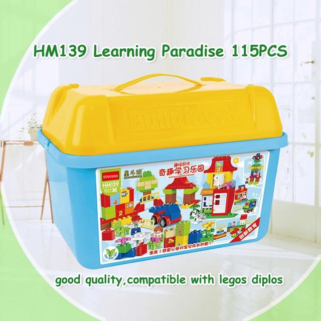 115pcs Quality Big Building Blocks paradise Self-locking Bricks Educational Toys Baby Toys Children Gift Compatible with Dduplo
