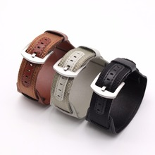 BUMVOR Nylon Watchband Leather Strap 18mm 20mm 22mm 24mm Stainless Steel Watch Accessories for Men Woman