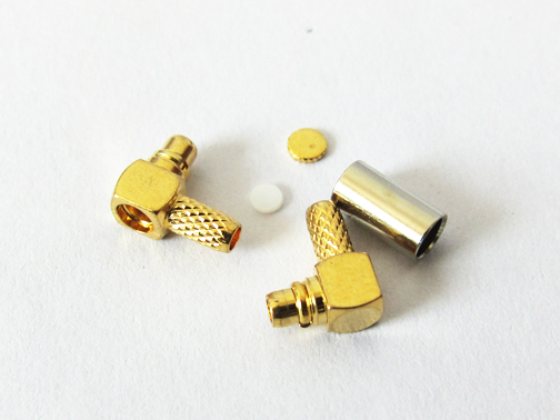 1PC NEW MMCX Male Plug right angle 90-degree RF Coax Connector Crimp for RG316,RG174, LMR100 Goldplated NEW wholesale new ts9 right angle connector switch fakra connector rg174 wholesale 20cm 8 adapter