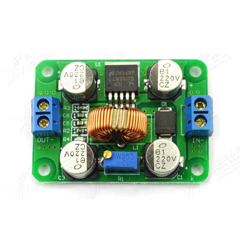 LM2587 DC-DC 3.5V-30V To 4V-30V Step Up Power Supply Module Adjustable 5A Boost Converter Voltage Regulator Board For Arduino lm317 dc buck step down converter module voltage regulator led voltmeter 12v 24v dc 0 30v output dc 1 25 30v for arduino