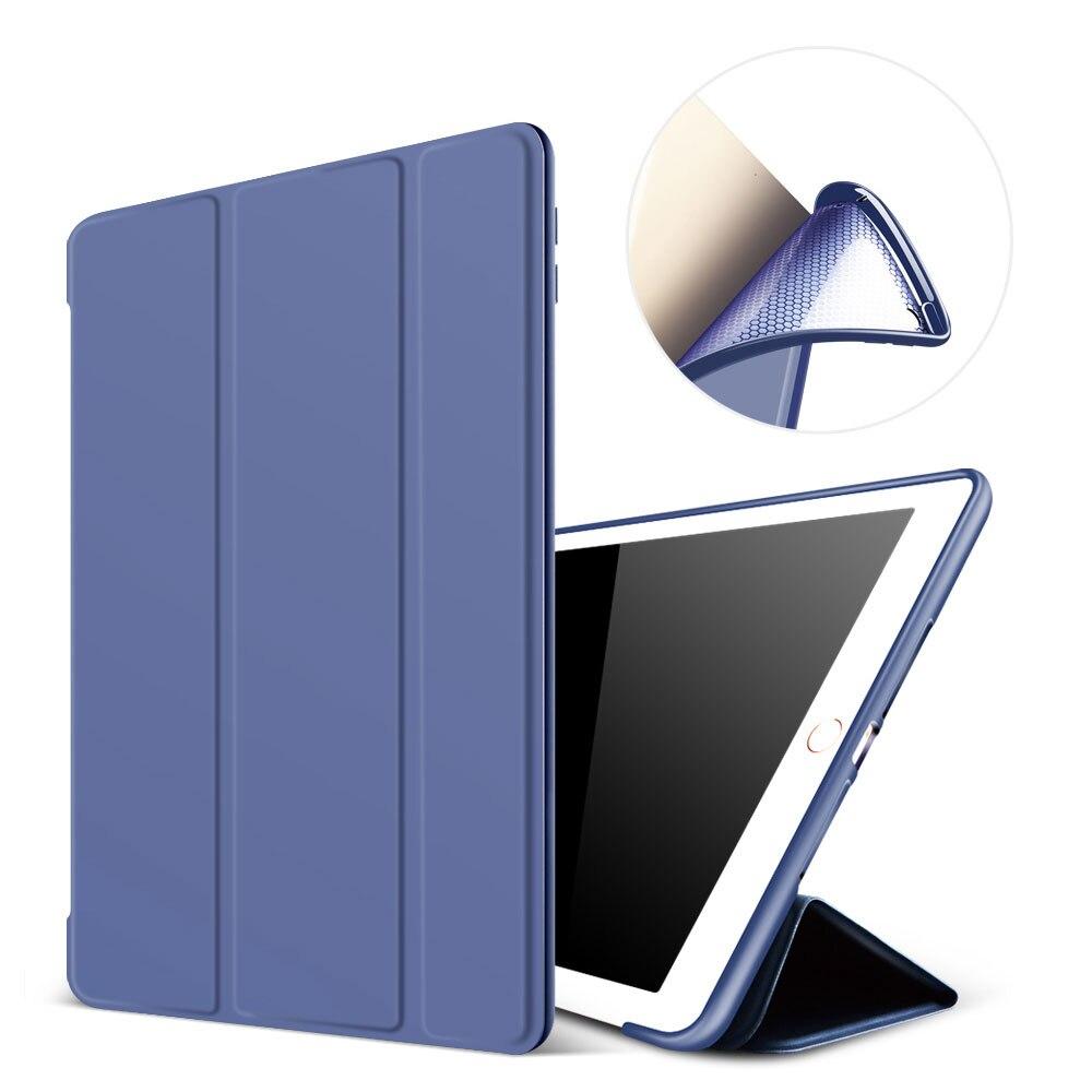 Case For Ipad Pro 9.7 PU Leather Smart Cover Tri-Fold Stand Flip Case Auto Sleep/Wake Function Funda For Ipad A1673 A1674