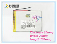 The Tablet Battery 1070100 8000mah 3 7 V Lithium Polymer Battery Interphone GPS Vehicle Traveling Data