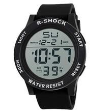 Livraison gratuite De Luxe De Mode Étanche Hommes de Garçon LCD Numérique Chronomètre Date Caoutchouc Sport Montre-Bracelet en gros montre homme A8