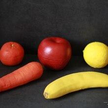 Фокусы, трюк реквизит Иллюзия резиновые искусственный банан/Apple/лимон/оранжевый/Морковь из пустой руки имитация исчезающих появляться