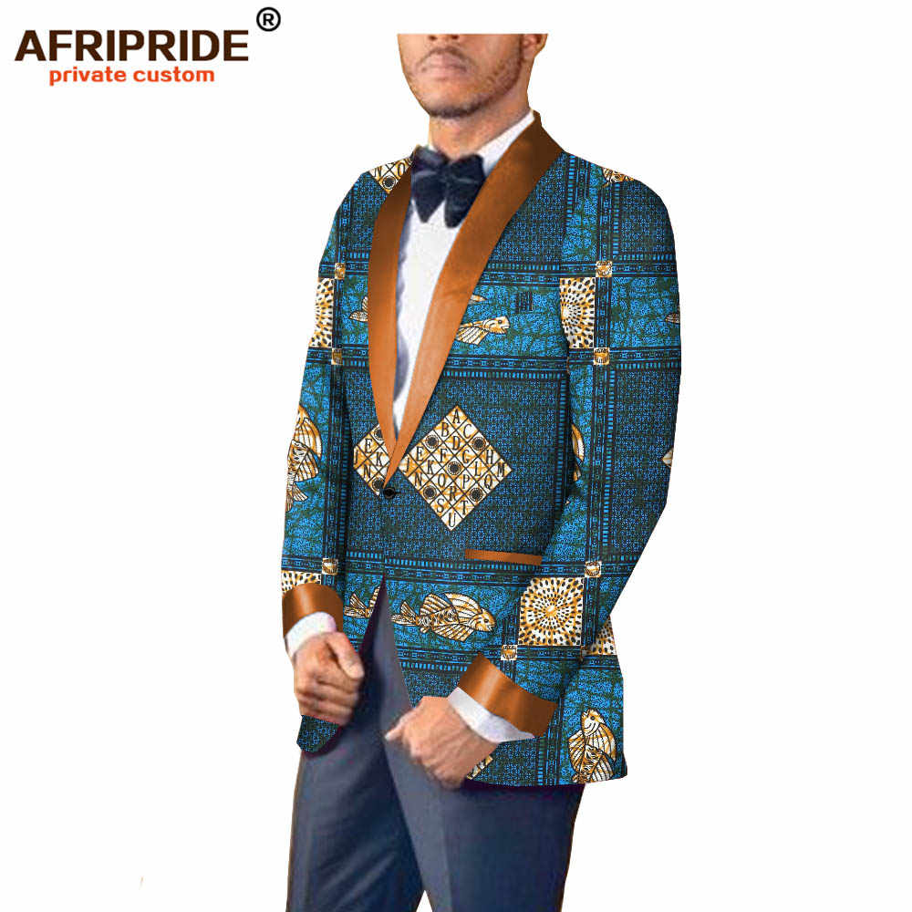 ... 2018 african print spring autumn suit jacket for men AFRIPRIDE tailor  made full sleeve single button fromal ... c977eeb0e136