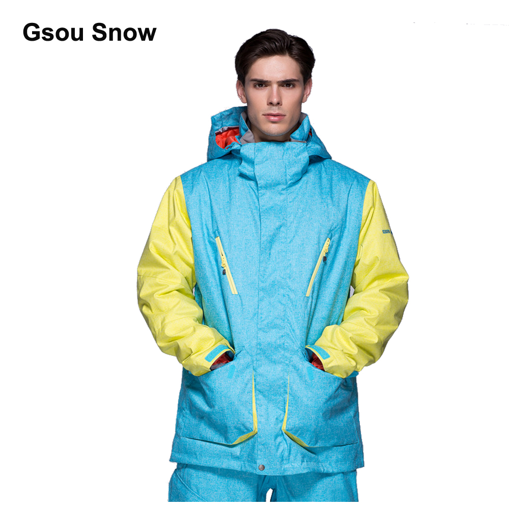 Gsou Snow Men Waterproof Ski jacket Mountain snowboard Wear Windproof colorful winter climbing sport Coat Top Warm Up men and women winter ski snowboarding climbing hiking trekking windproof waterproof warm hooded jacket coat outwear s m l xl