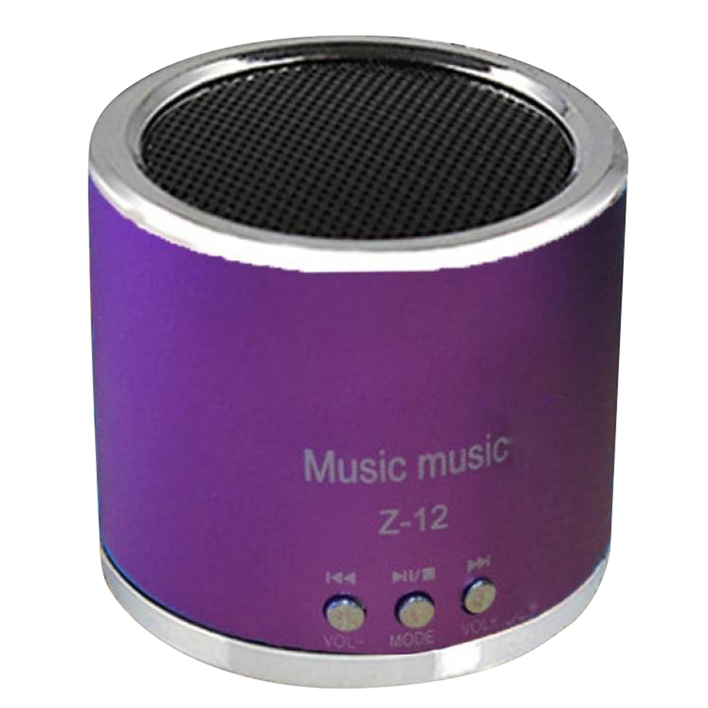 MP3 Player TF Card mini SD Wireless USB FM Radio Mini Portable Speaker (Red)