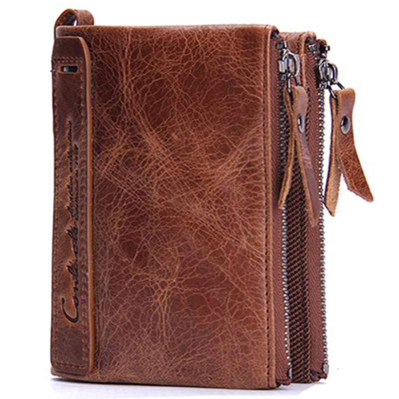 Men Genuine Leather Wallets Business Card Holder Dollar Wallet Clutch Purse For Men Walet Genuine Leather Bolsas New Male Wallet