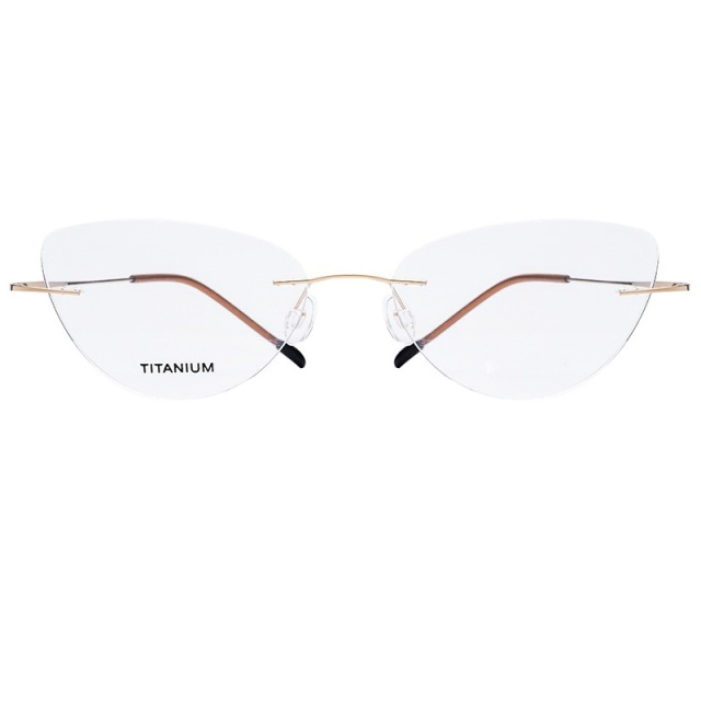 11e2ad803e23d Vazrobe rimless Cat Eye Glasses Frame Silhouette Eyewear Women Optical  Clear Lens Eyeglasses Frames for Female Ladies nerd