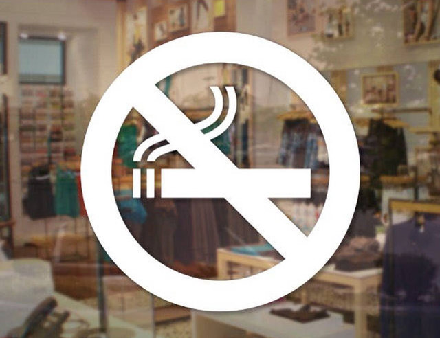 No Smoking Decal No Vaping Sign Store Business Sticker For Store