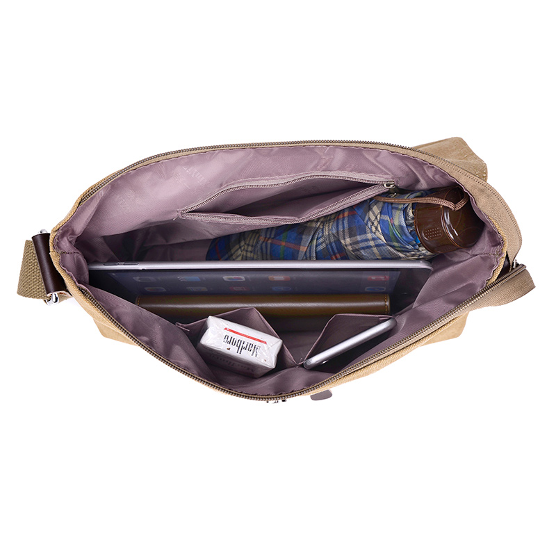 pacote diagonal cor sólida zipper Backpack Tipo : Canvas Shoulder Bag
