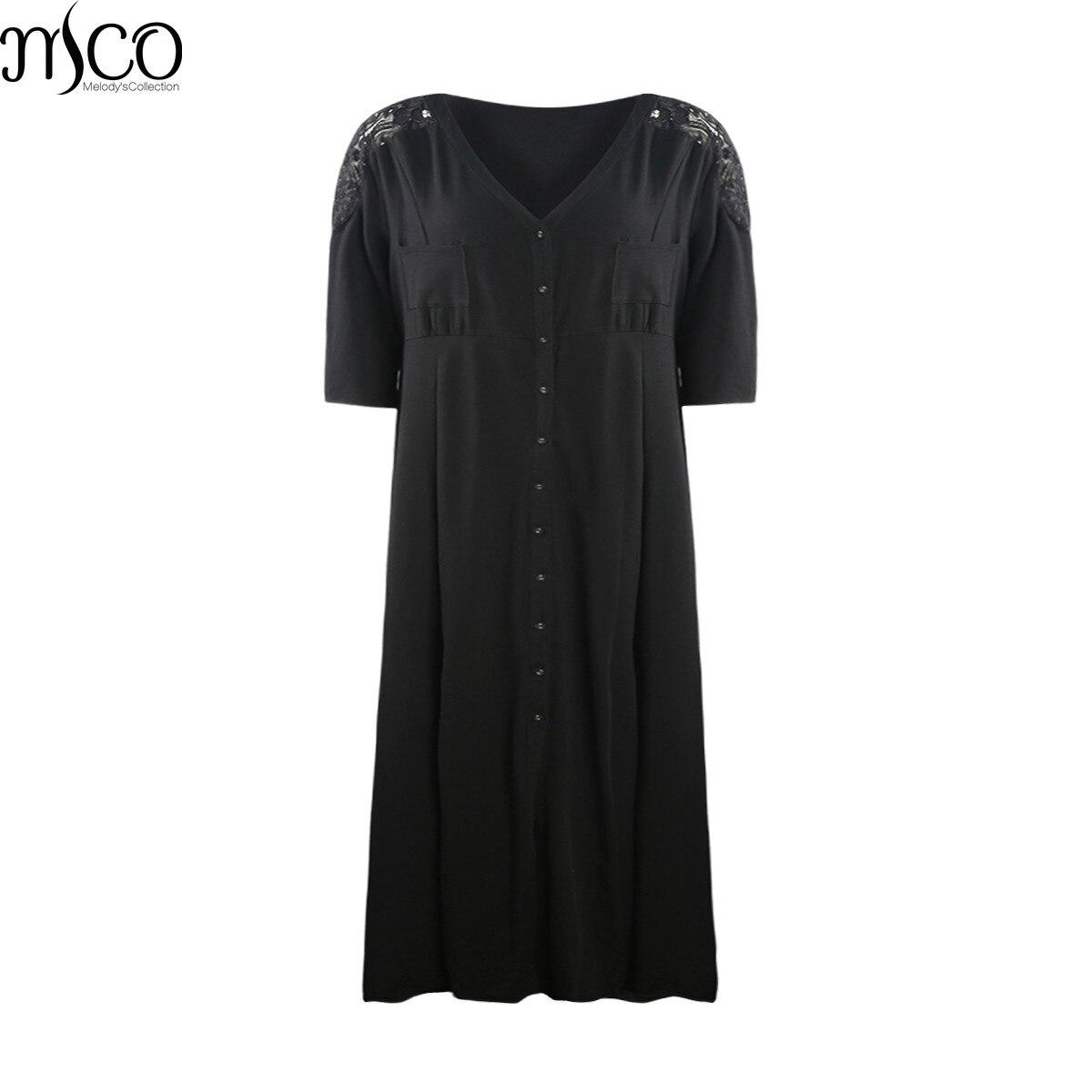 MCO 2018 Autumn Sexy High Split Plus Size Maxi Dress Floral Lace Insert  Long Dresses Basic efda9f000049