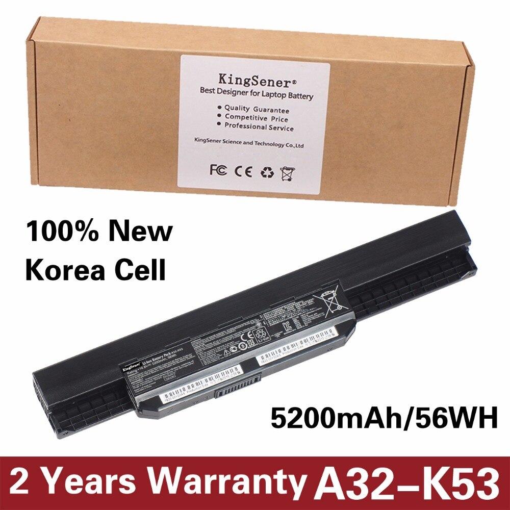 Korea Cell KingSener New A32-K53 Battery for ASUS K43 K43E K43J K43S K43SV K53 K53E K53F K53J K53S K53SV A43 A53S A53SV 5200mAh asus k53 k53tk sx019d