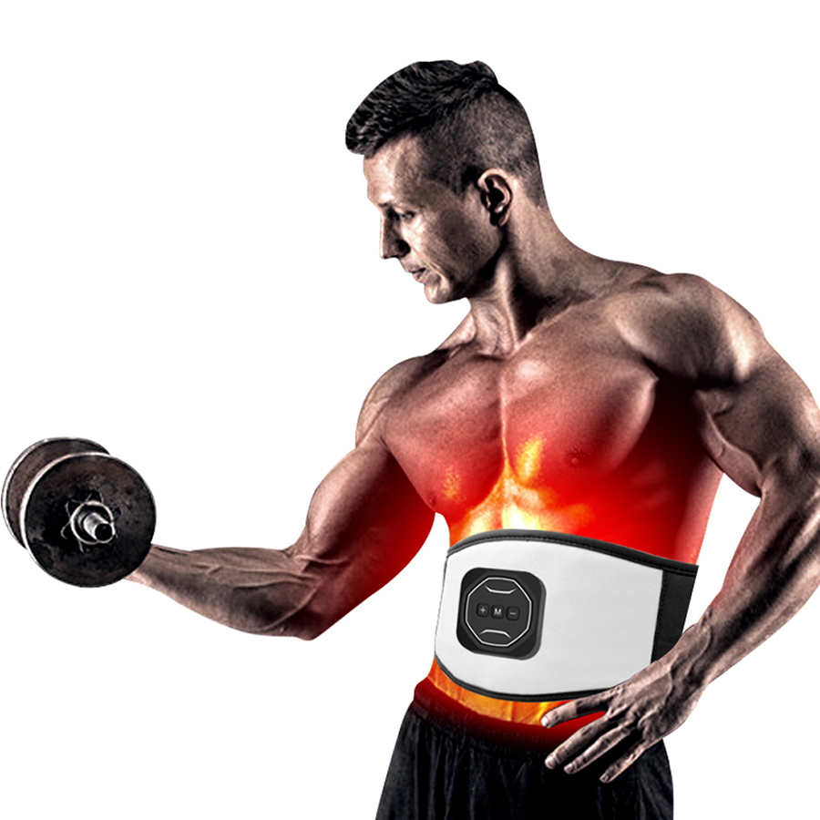 Fitness EMS Myostimulator for muscle Slimming Muscle Stimulator Electric Wireless Abdominal Belt Training Device Abs Stimulators image