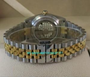 Image 5 - 2017 新ファッションサファイアクリスタル 36 ミリメートルパーニス日本 21 jeweles 自動自己風運動発光メンズ腕時計 5Bar 9A