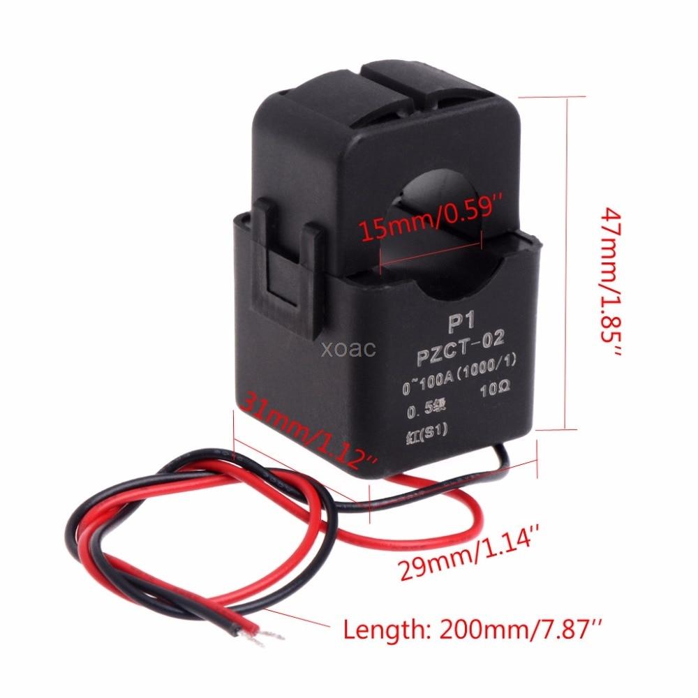 Precision AC Current Transformer Coil PZCT 2 100A/100mA For AC Voltmeter Ammeter M20 dropshipping|ac current|ammeter precisionac ammeter - AliExpress
