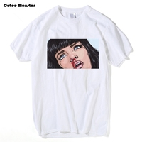Movie Mia Wallace Pulp Fiction T Shirt Men Fashion Summer Quentin Tarantino T Shirt Cotton Hip