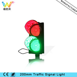 Luz de señal de tráfico de cruce de carretera verde rojo WDM 200mm